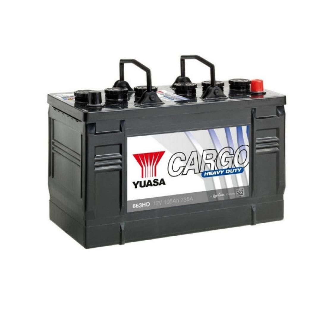 AKUMULATOR YUASA CARGO 105 Ah D+ IVECO