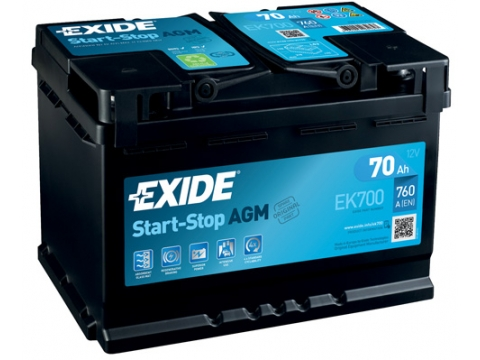 AKUMULATOR EXIDE START STOP AGM 70AH