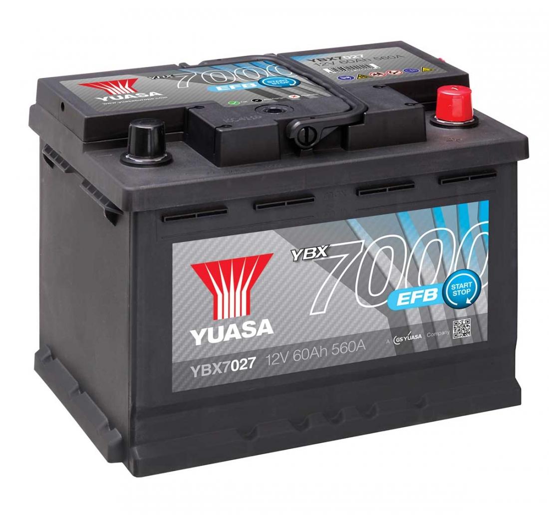 AKUMULATOR YUASA START/STOP 7000 EFB 70Ah D+