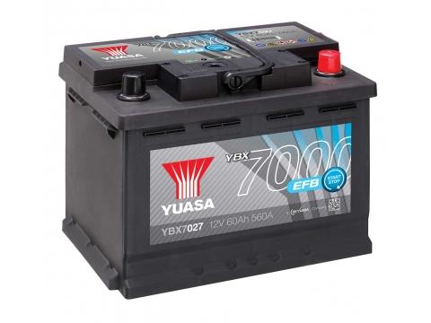 AKUMULATOR YUASA START/STOP 7000 EFB 60Ah D+