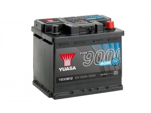 AKUMULATOR YUASA START/STOP 9000 AGM 50Ah D+