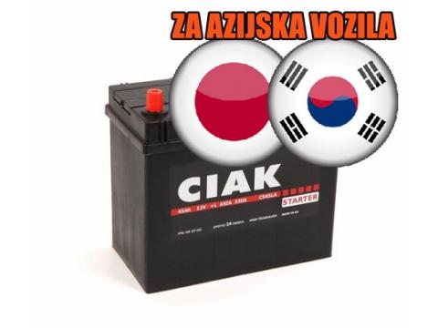 AKUMULATOR CIAK STARTER ASIA 45AH L+