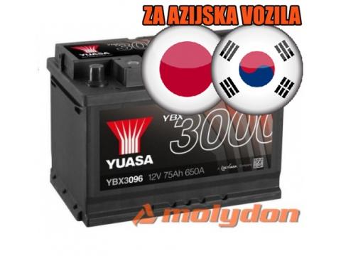 AKUMULATOR YUASA (3000 PREMIUM) 12V/60Ah L+ JAP